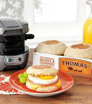 Hamilton Beach: Thomas'® Breakfast Sandwich Maker Recipes