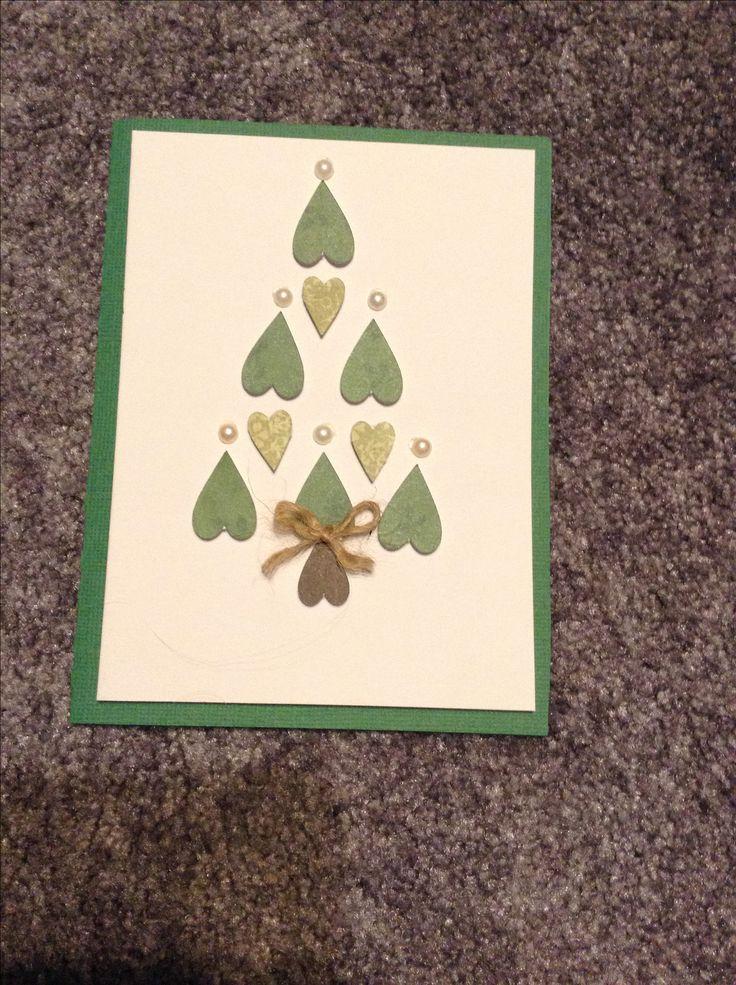 chrismas, card, tree, green