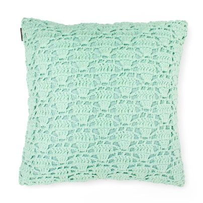 Crochet Cushion in Mint 50cm