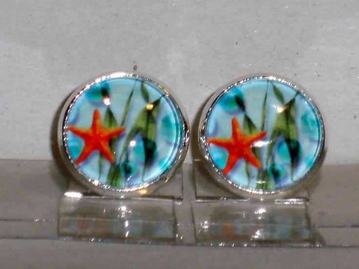 Ohrstecker - Ohrstecker Seestern Maritim Ohrringe Damen Glas - ein Designerstück von ausgefallene-Ohrringe bei DaWanda