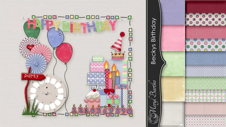 Becky's Birthday Page Kit