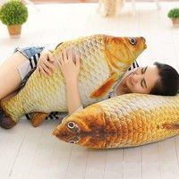 DÉCORATIONS DE PLAGE Wish | Simulation Carp Plush Toys Staffed Soft Animal Fish Plush Creative Sofa Pillow Gift Kids Toy Christmas Gifts