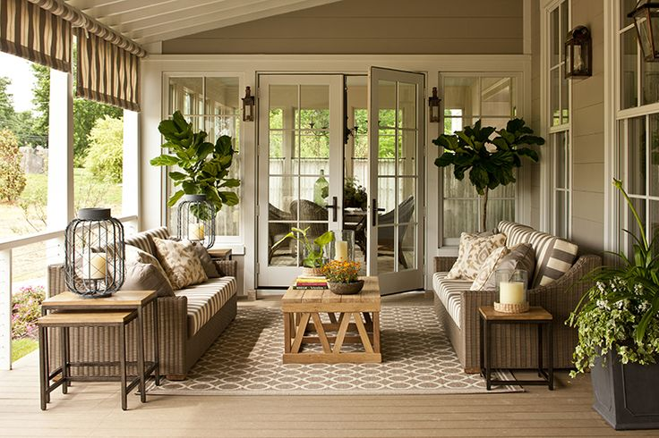 southern living screened porch outdoor living covered deck sunroom