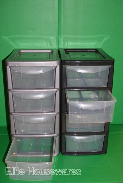 4 drawer plastic storage unit 3