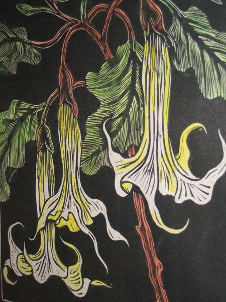 Gregoire Boonzaier Flower Linocuts