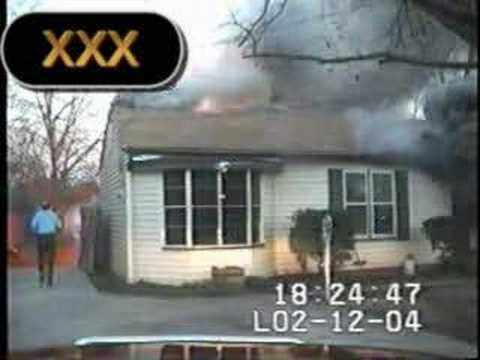 Firefighter Close Call Video - House Explodes, Firefighter Has No Gear On!