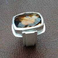Brandy Citrine ring in sterling silver