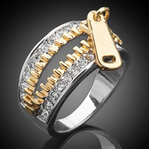 Zipped up with diamonds