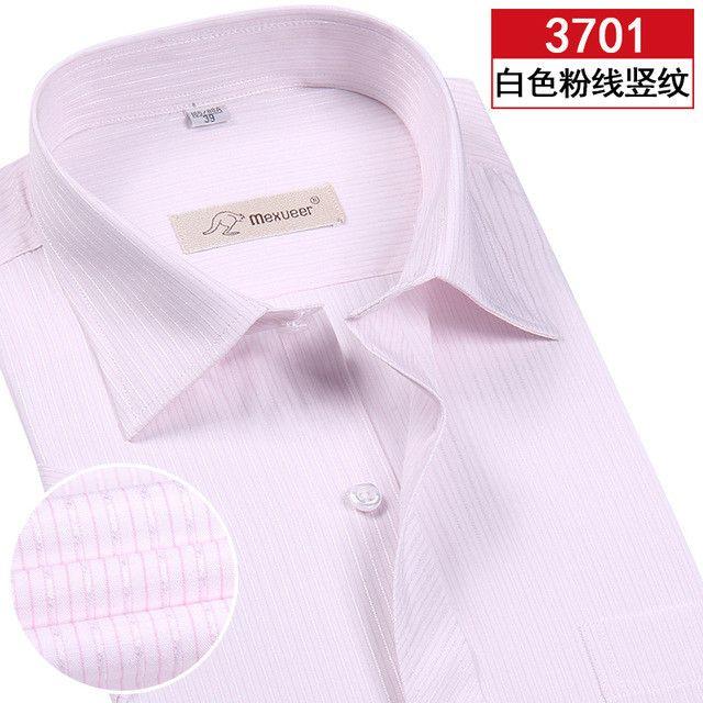 New Arrived Men Shirt 2016 Brand Summer Plus Size Striped Shirt Business Formal Short Sleeve Mens Dress Shirts Chemise 21colors