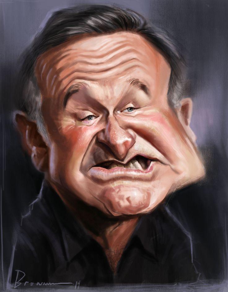 نتیجه تصویری برای ?caricatura Robin Williams?