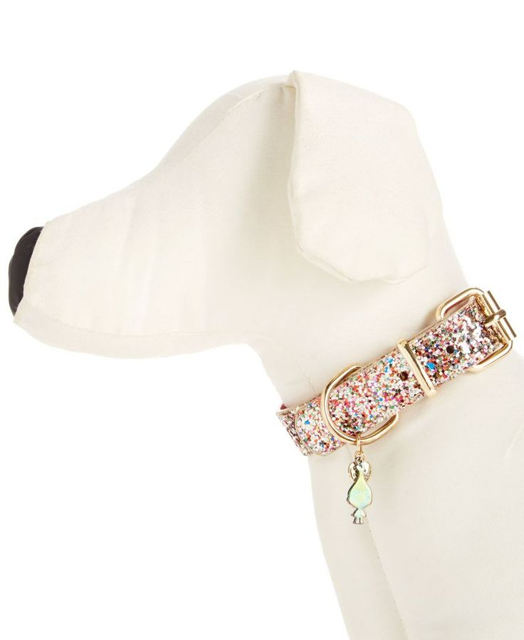 """Give your favorite furry friend uptown sparkle with this glitter dog collar from Betsey Johnson xox Trolls. 