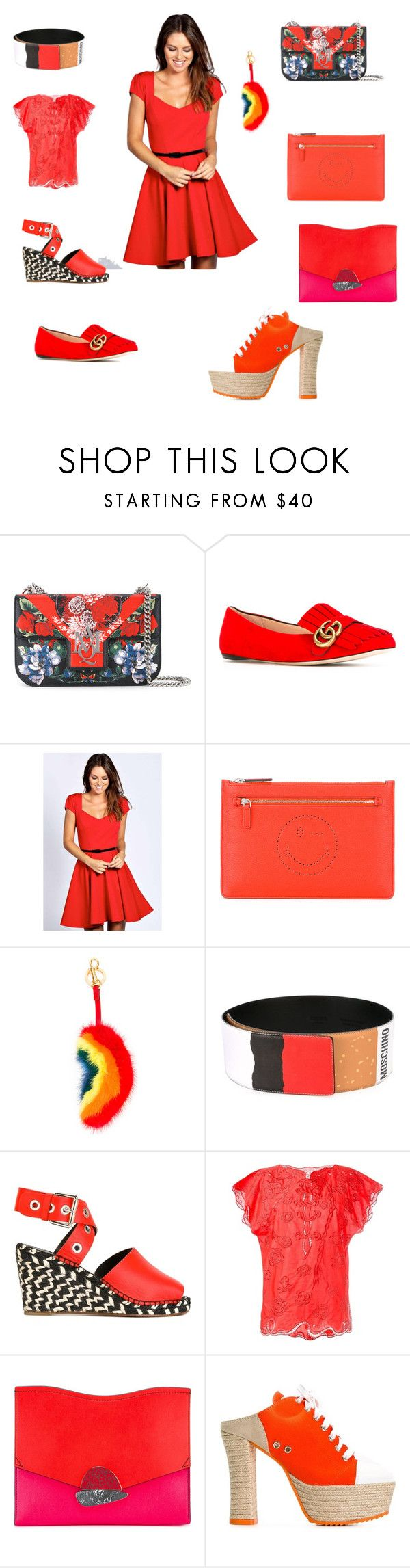 """""""Fashion rich"""" by emmamegan-5678 ❤ liked on Polyvore featuring Alexander McQueen, Gucci, Boohoo, Anya Hindmarch, Moschino, Proenza Schouler, Tsumori Chisato and vintage"""