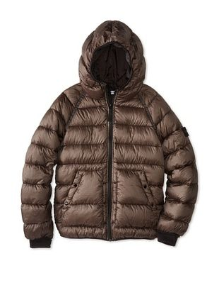 46% OFF Stone Island Kid's Down Puffer Jacket (Smoke)