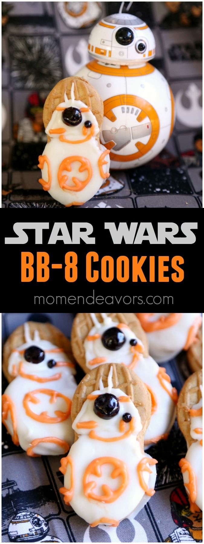 Star Wars The Force Awakens BB-8 No-Bake Cookies