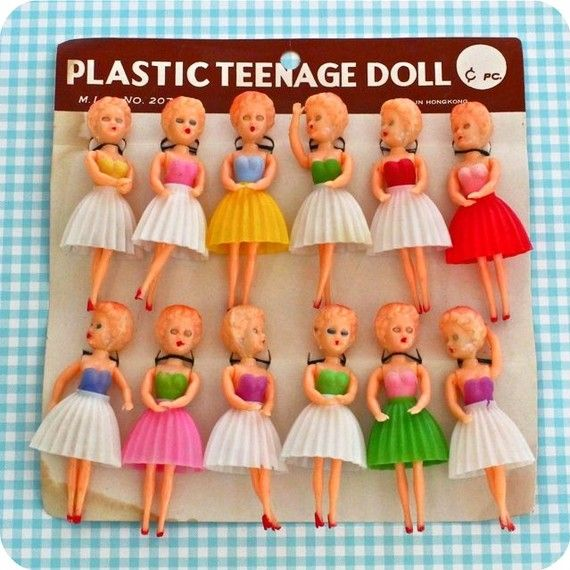 My sister loved these flimsy celluloid dolls. They were held together with rubber bands, and broke almost immediately.