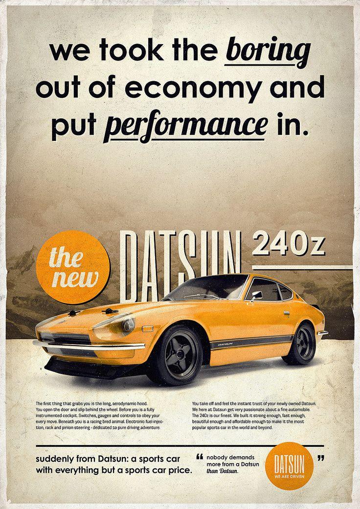 design, Future, germany, Illustration, Inspiration, posters, print, Retro,Datsun 240z#TacomaNissan #NissanLove
