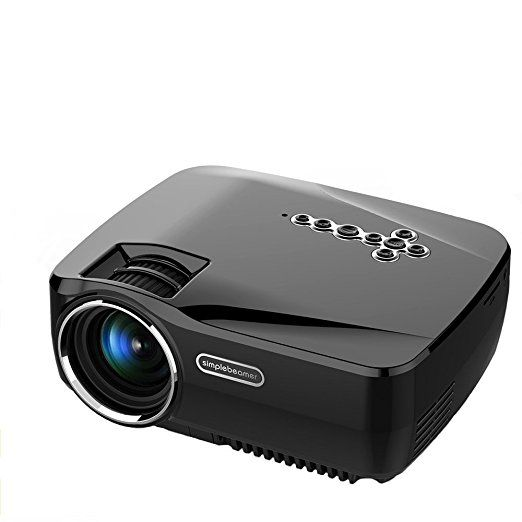 Android WiFi Bluetooth Projector,Vivibright Portable Mini LED Projector Support 1080P HD Multimedia Home Theater Cinema,Party and Video Games,Black(HDMI Cable not included)
