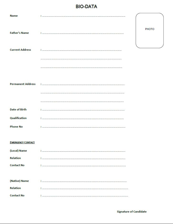 0e9e2754711824825d9a6d9a69749b96--bio-free-printable Sample Biodata Format For Job In Pdf on