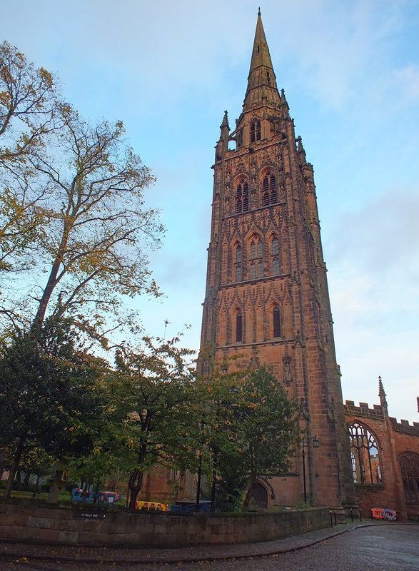 Cathedral tower is 90 metres high