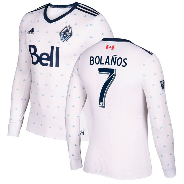 Christian Bolanos Vancouver Whitecaps FC adidas 2017 Primary Authentic Long Sleeve Jersey - White