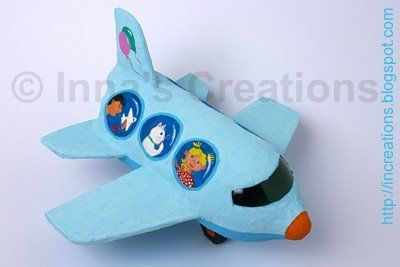 Paper Mache Water Bottle Airplane - Fasten your seat belts…we're ready for takeoff! Here's a great way to recycle all of the plastic soda bottles that fill your recycling bins.