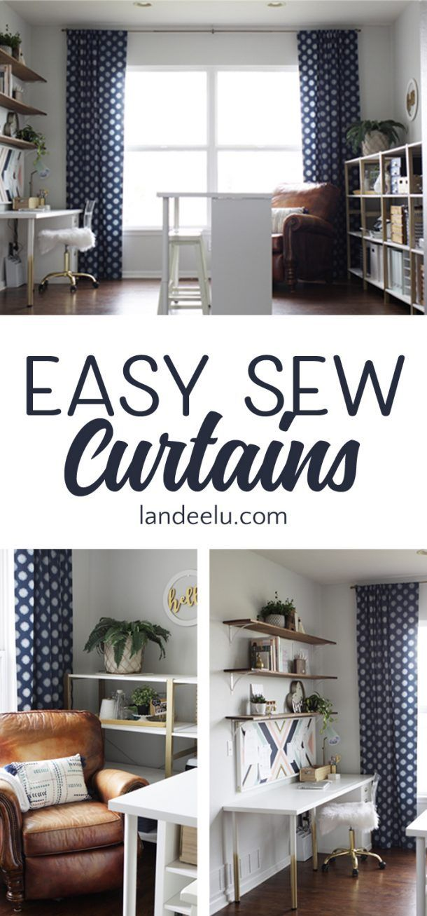 Easy Sew Curtains If I Can Sew These You Can Too In 2020 No