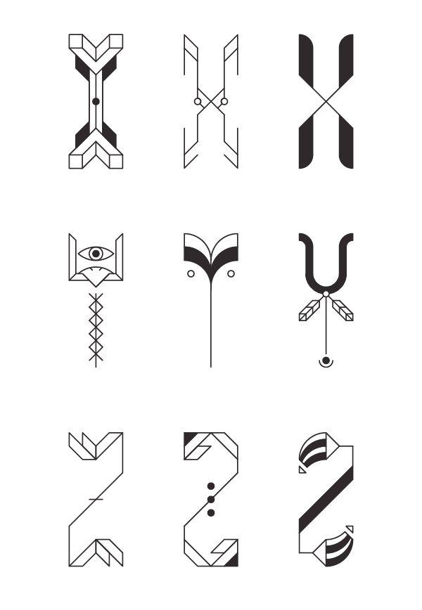 Typography Design - ZWEI + ZENITH by Jacopo Severitano, via Behance