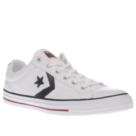 mens converse white & navy star player re-mastered trainers