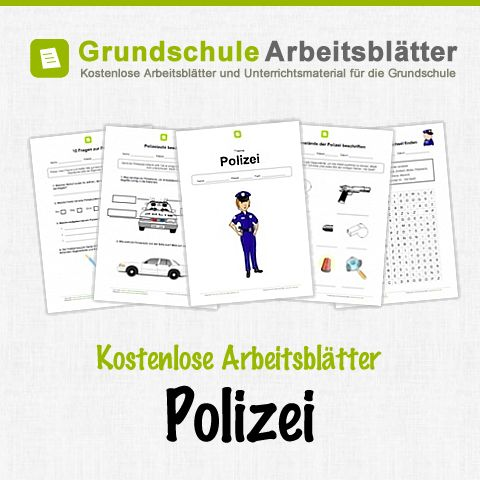 Kostenlose Arbeitsblätter und Unterrichtsmaterial für den Sachunterricht zum Thema Polizei in der Grundschule.