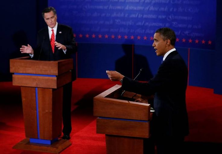 Obama vs Romney | A debate lasts for 90 minutes without any break in between. A set of topics, chosen by the moderator, is announced before to the candidates. All these years, there have been three presidential debates in each election cycle. In the photo, President Barack Obama answers a question as Republican presidential nominee Mitt Romney listens during the first 2012 debate. (Photo: Reuters)