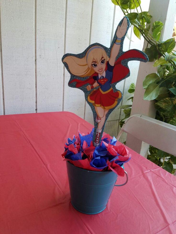 Dc Super Hero Girls Supergirl Table Centerpiece In 2019