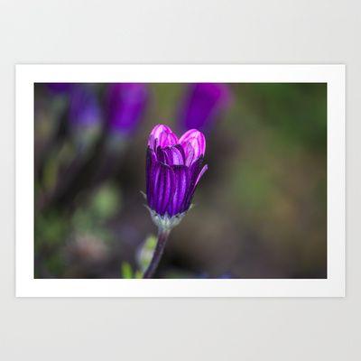 Purple Art Print by Oscar Tello Muñoz - $19.00