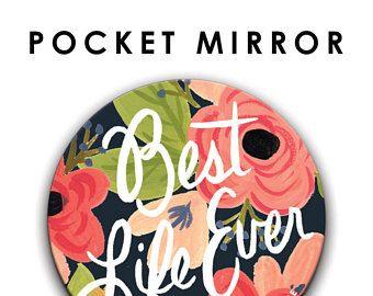 Marina flores mejor vida alguna vez 76mm/3 pulgadas espejo del bolsillo, regalo de JW, Jehová testigos JW Convención regalo, JW.org, Pioneer regalo, cosas de jw