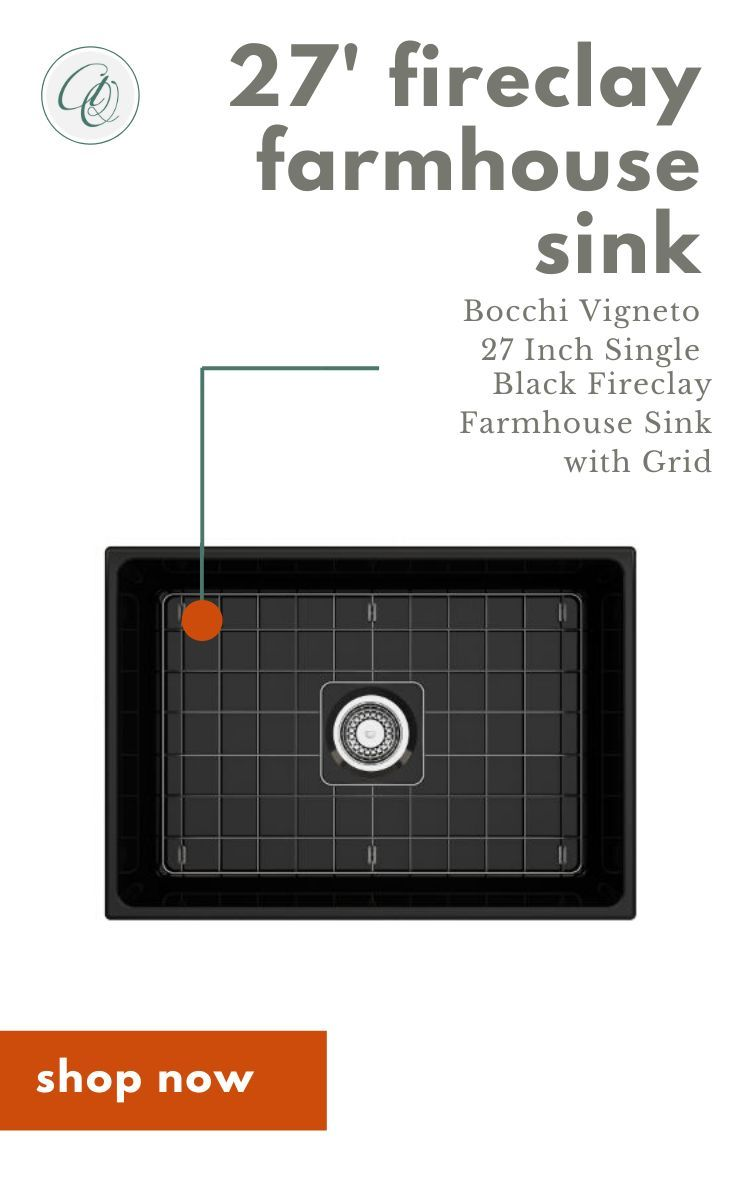 Bocchi Vigneto 27 Black Fireclay Single Bowl Farmhouse Sink W Grid In 2020 Farmhouse Sink Fireclay Sink Fireclay Farmhouse Sink