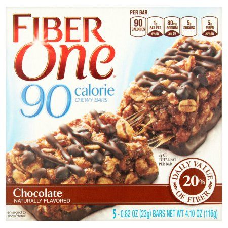 Fiber One 90 Calorie Chocolate Chewy Bars 5 x 0.82 oz