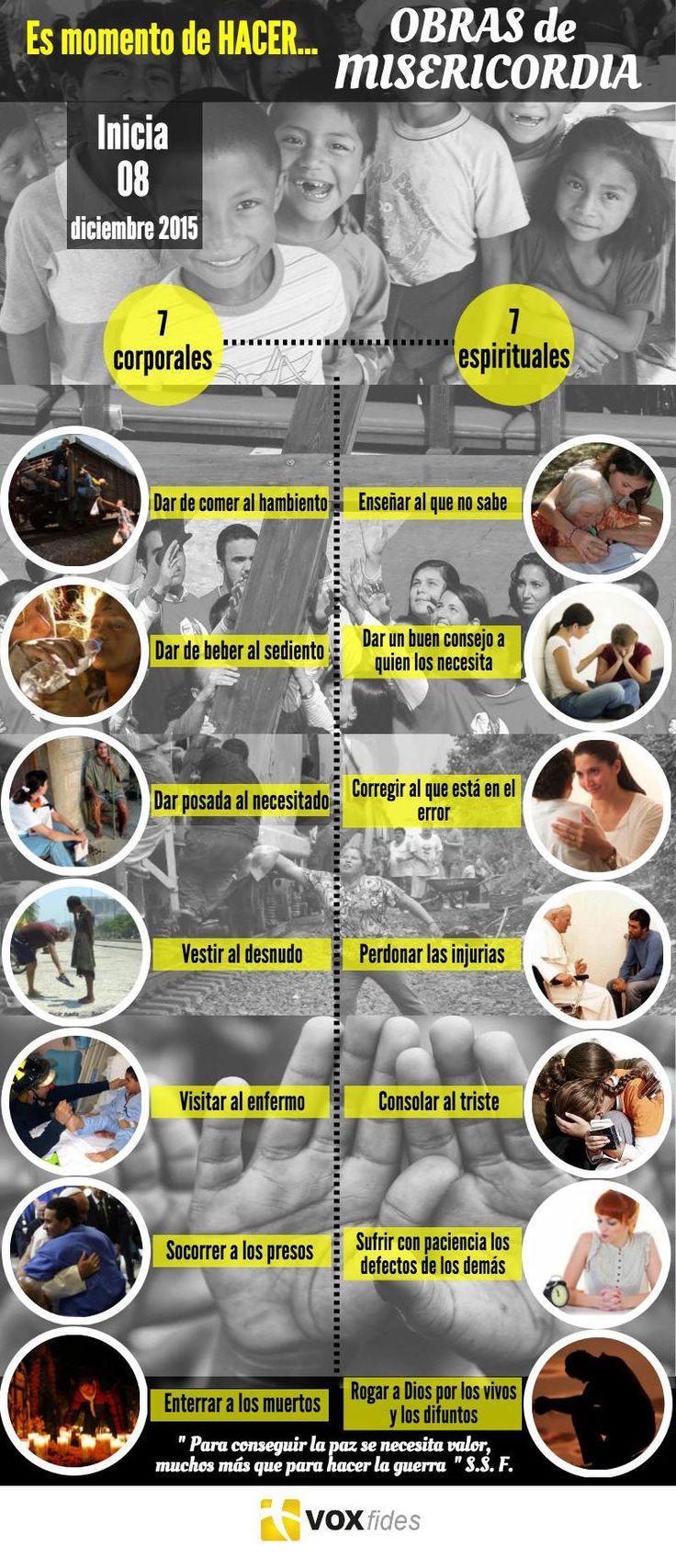 Catholic.net - Las 14 Obras que puedes realizar en el Año de la Misericordia