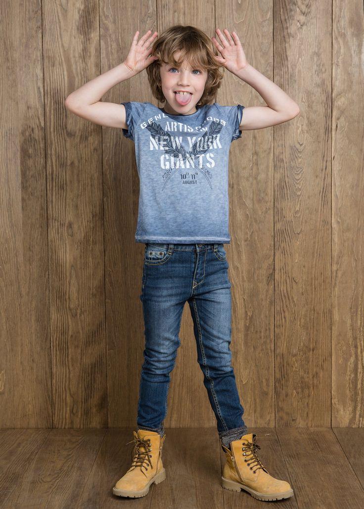 Jeans slim-fit lavaggio scuro - Bambini | MANGO #kidswear #style #fall #winter
