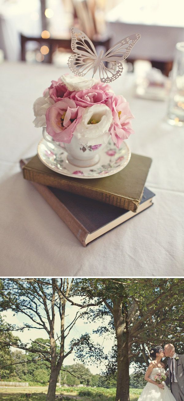 Flowers in a teacup with a butterfly - was that made for me??