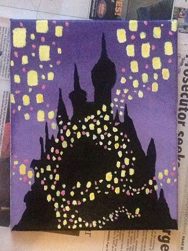 40 Awesome Canvas Painting Ideas For Kids: 40 Pictures Of Cool Disney Painting Ideas
