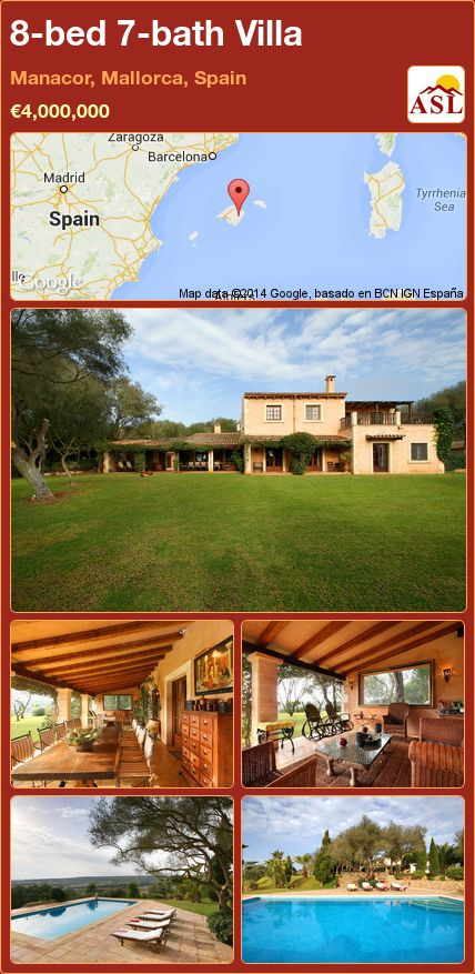 8-bed 7-bath Villa in Manacor, Mallorca, Spain ►€4,000,000 #PropertyForSaleInSpain
