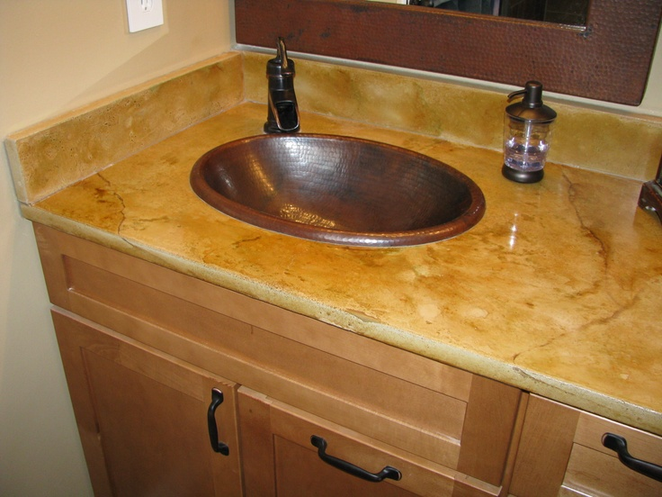 Duravel Birch Concrete Counter Top Bathroom Vanity Veined