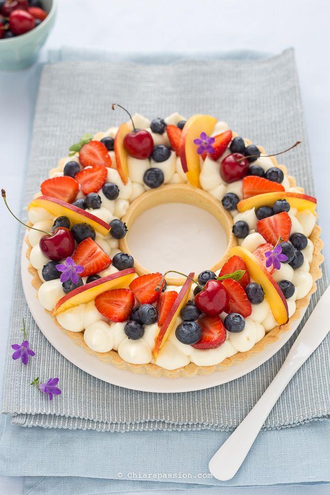 Crostata di frutta con crema Namelaka al limone, la più buona e cremosa che ci sia!!! Recipe ring tart - chiarapassion