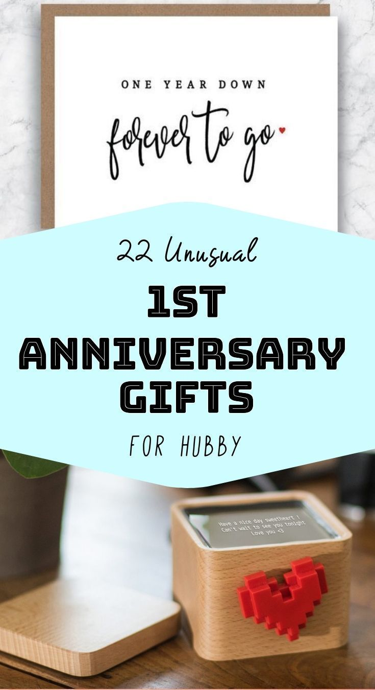 22 Anniversary Gifts That Are Just As Good As Your First Year Of M Anniversary Ideas For Him First Year Anniversary Gifts For Him Anniversary Gifts For Husband