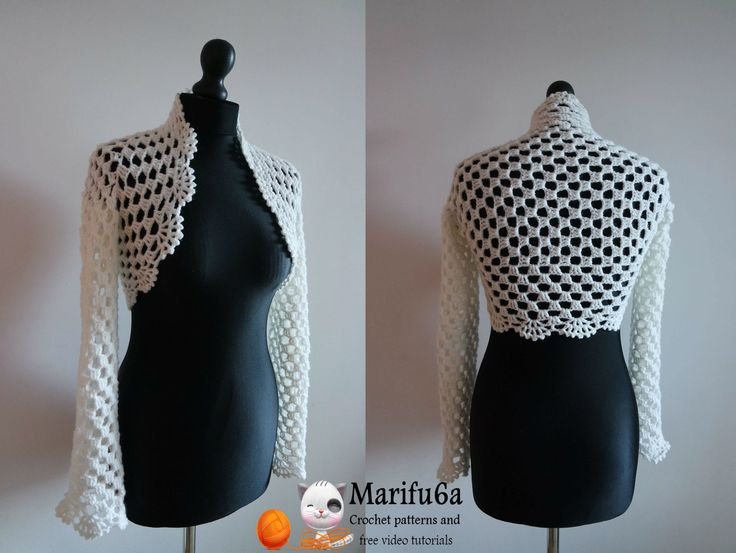 How to crochet bridal bolero Chaleco jacket for beginners para principia...