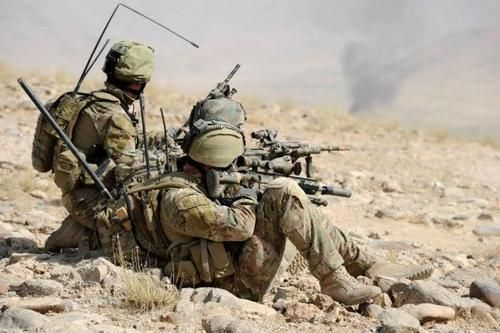 Australian Special Forces soldiers on patrol in Afghanistan.
