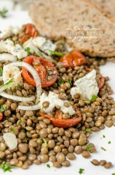 lenticchie di Castelluccio con pomodorini confit e gorgonzola
