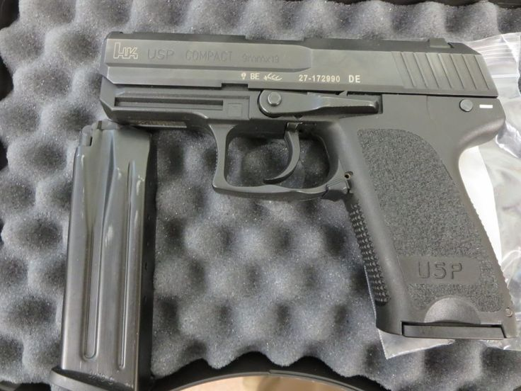 Used Heckler & Koch USP Compact 9mm w/ night sights, extra magazine and case $695 - http://www.gungrove.com/used-heckler-koch-usp-compact-9mm-w-night-sights-extra-magazine-and-case-695/
