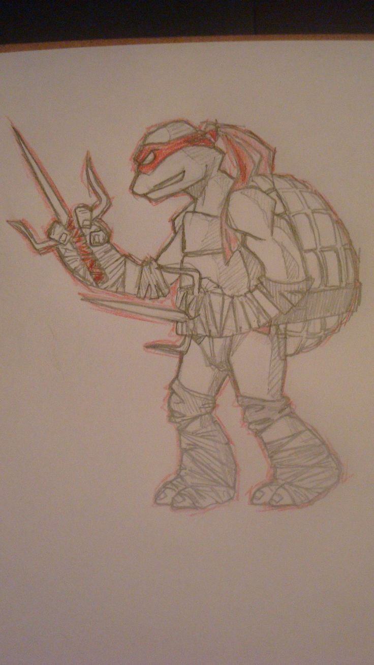 Rapha- sketch-teenage mutant ninja turtles
