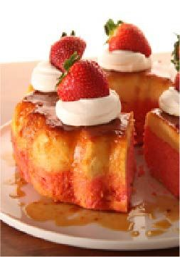 Strawberry Flan Cake – This dessert recipe only takes 20 minutes of prep work.