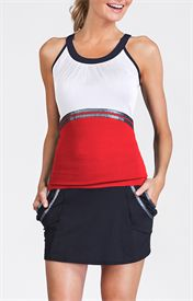 Picture of Edwina Tank - Allure Red and White